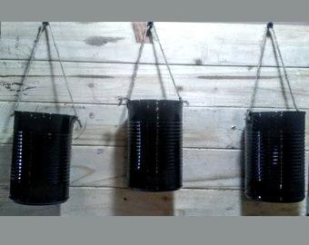 Boîte de conserve de 14,5 oz suspendu planteurs - 3 jardinières par commande