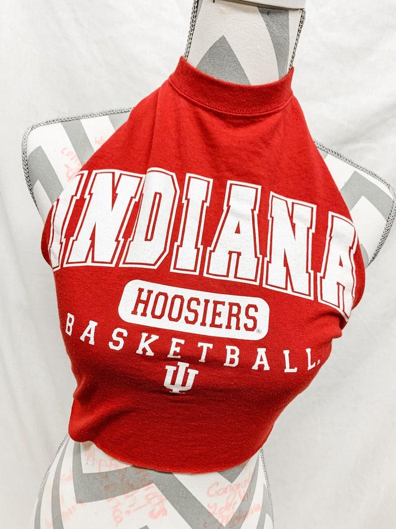 Indiana Hoosiers Basketball Game Day Halter Top  Red and White Halter Top  Hoosier Game Day Apparel  IU Apparel