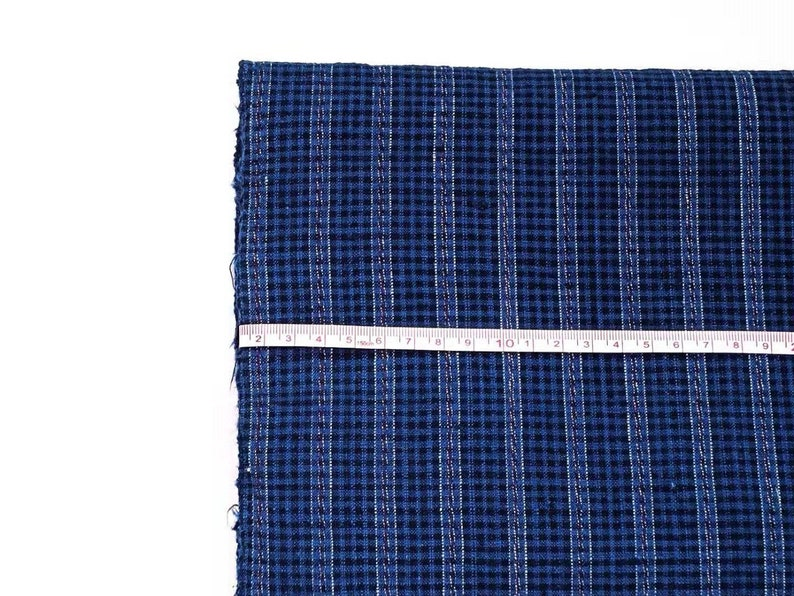 Blue Stripe Fabric Boho Fabric Striped Upholstery B437 Home Decor Designer Textile Fabric By The Yard 5.4m Handwoven Vintage Cotton