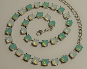 Pacific Opal Swarovski Crystal Necklace
