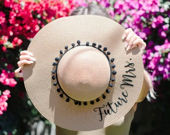 Mother of the Groom Gift Mother of the Bride Hat Mother of the Groom Hat Mother of the Bride Gift Floppy Beach Hat Personalized Sun