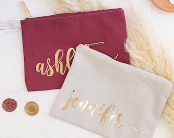 Bridesmaid Gifts Makeup bag | Custom Makeup Bag | Monogrammed Makeup Bag | Personalized Cosmetics Bag | Bridesmaid Proposal