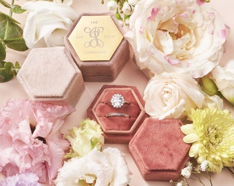 Metal Engraved 18 Colors Ring Box   Engagement Ring Box   Wedding Ring Box   Velvet Ring Box   Proposal   Double Slot   Ring Bearer Box  