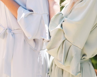 Custom Ruffle Robes for Bridesmaid Robes | Bridal Party Robes | Bridesmaid Gifts | Bridal Shower | Hundred Hearts | Bachelorette Party Gifts