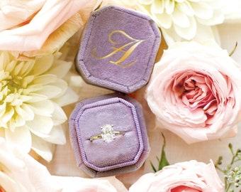 Velvet Single Slot Ring Box   Wedding Ring Box   Engagement Ring Box   Ring Box for Proposal   Ring Bearer   Personalized Ring Box