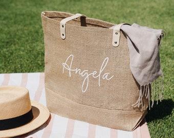 Beach Tote Bag for Bridesmaid | Bridesmaid Proposal Bag | Personalized Bridesmaid Bag | Custom Tote Bag | Bridesmaid Gift Bag