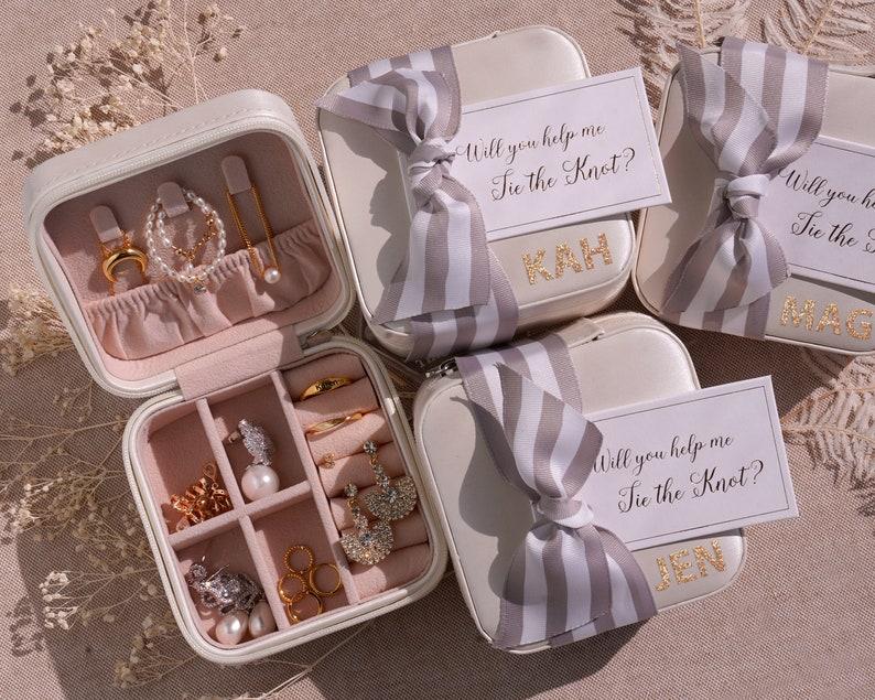 Personalized Jewelry Box  Bridesmaid Proposal  Bridesmaid image 0