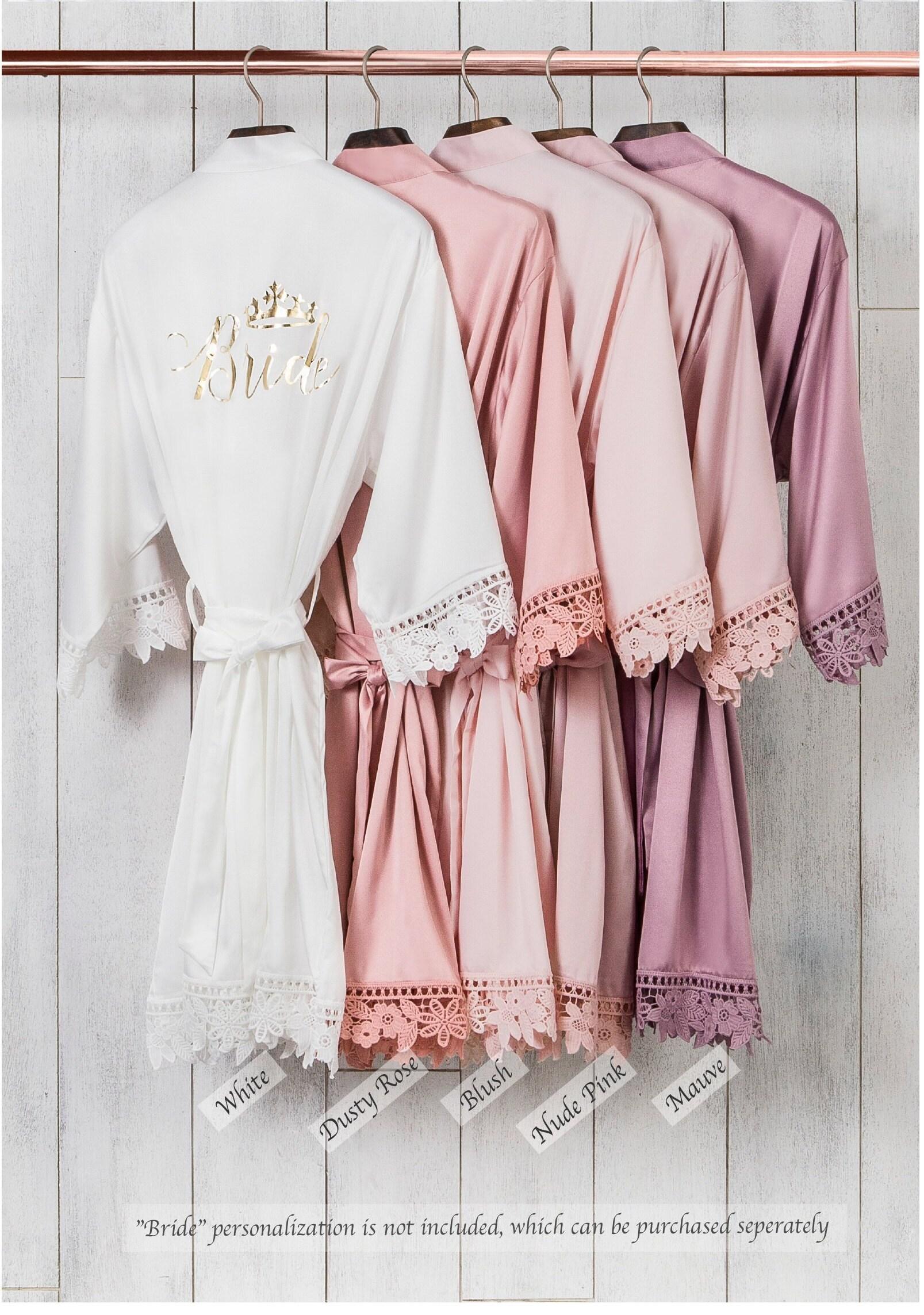 Silky Chunky Lace Robe  Bridesmaid Robes  Bridal Robe  image 4