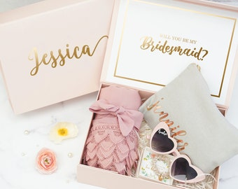 Bridesmaids Proposal Box ONLY | Personalized Gift Box | Maid of Honor Gift Box |  Custom Bridesmaid Gift Box | EMPTY BOX | Bridal Party Gift