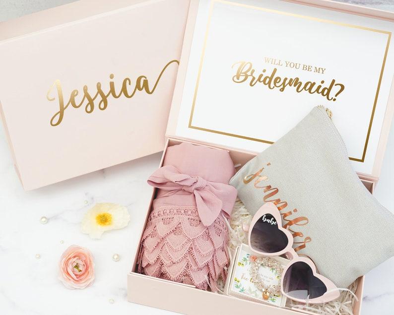 Bridesmaids Proposal  Personalized Bridesmaid Gift Box  Maid image 0