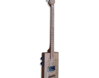 Cigar Box Guitar 4 String Electric Handmade Gift Soft Bag