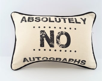 Birthday Gift Denim Decorator Pillow Cover Housewarming Gift Friend Gift Gift for Client Gift for ActorActress funny pillow