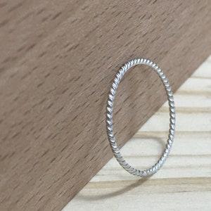 Minimal Ring Dainty Ring Stacking Rings Labradorite Sterling Silver Ring 925 Simple Gems Ring Thin Stackable Band Ball Ring