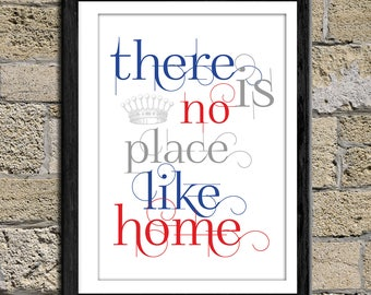 There is no place like home - Printable Quote, typography Art, Inspirational Quote Wall Art, Typography Art, Poster