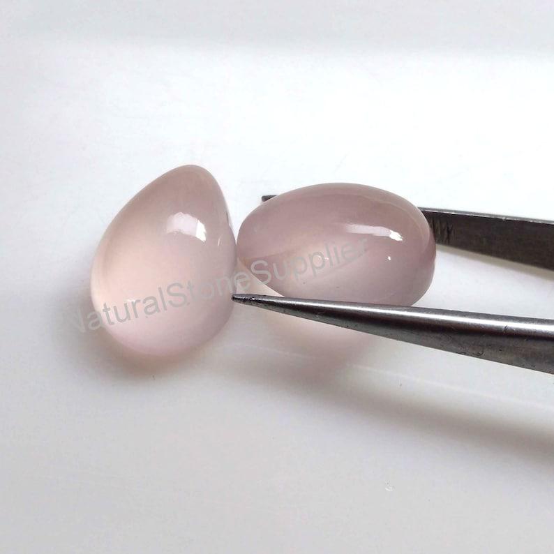 4X6 mm To 13X18 mm Size Rose Quartz Cabochon Wholesale Loose Rose Quartz Gemstone Supplier Natural Rose Quartz Pear Cabochon