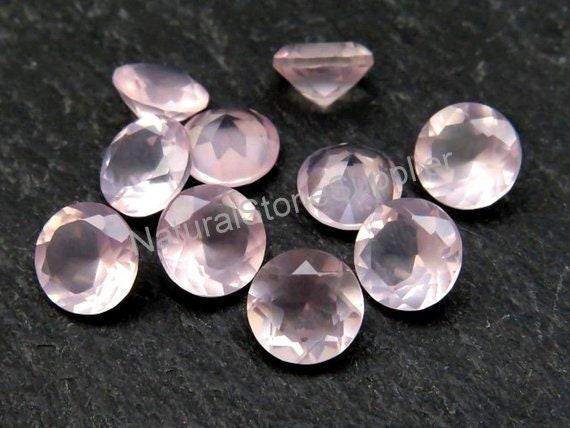 pkg 25 Cabochon Gemstone Pink Rose Quartz 13x18 mm