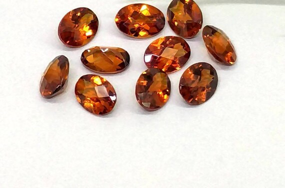 Wholesale Lot 7x5mm Oval Cut Natural Hessonite Garnet Loose Calibrated Gemstone