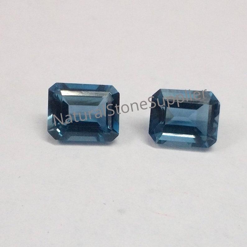 Natural London Blue Topaz Cushion Cut Calibrated Size Loose Gemstone Topaz