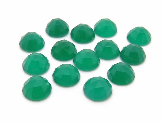 Natural Green Onyx Square Cabochon Calibrated Size Loose Green Onyx Gemstone