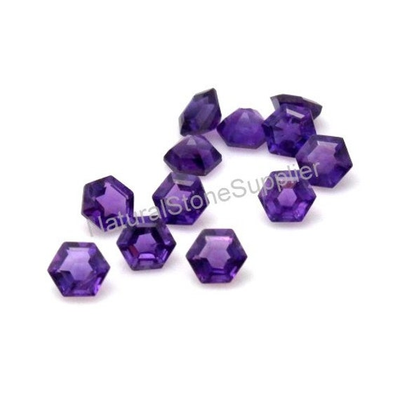 Wholesale Lot of 5mm Round Faceted Natural Amethyst Loose Calibrated Gemstone