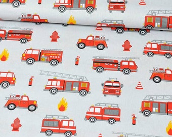 Fire Trucks Fabric by the Yard,cotton Fabric,Fire Trucks Print,fireman fabric,Quilting fabric,Boy Fabric,nursery fabric,baby fabric,playroom