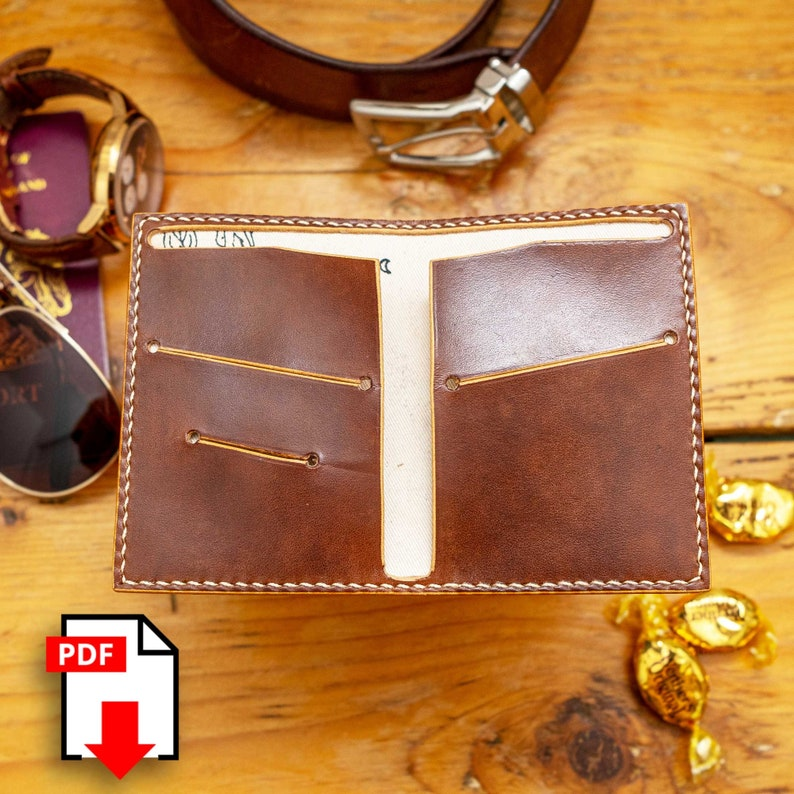 perfect build for beginner leathercrafters! Download PDF template for simple 2 slot wallet