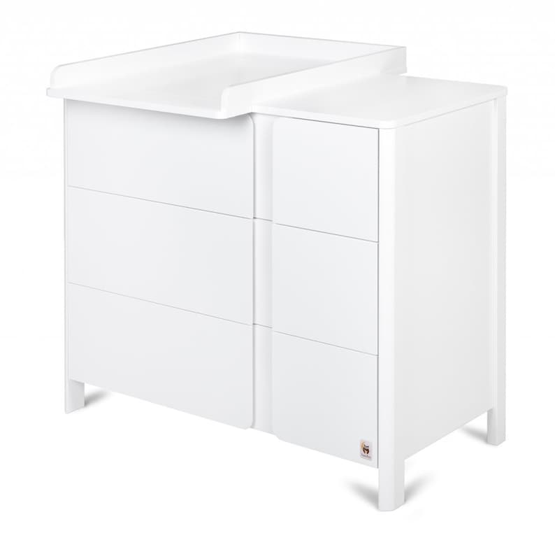 white dresser chest of drawers home and living YappyClassic nursery dresser kids furniture baby bedroom furniture nursery furniture