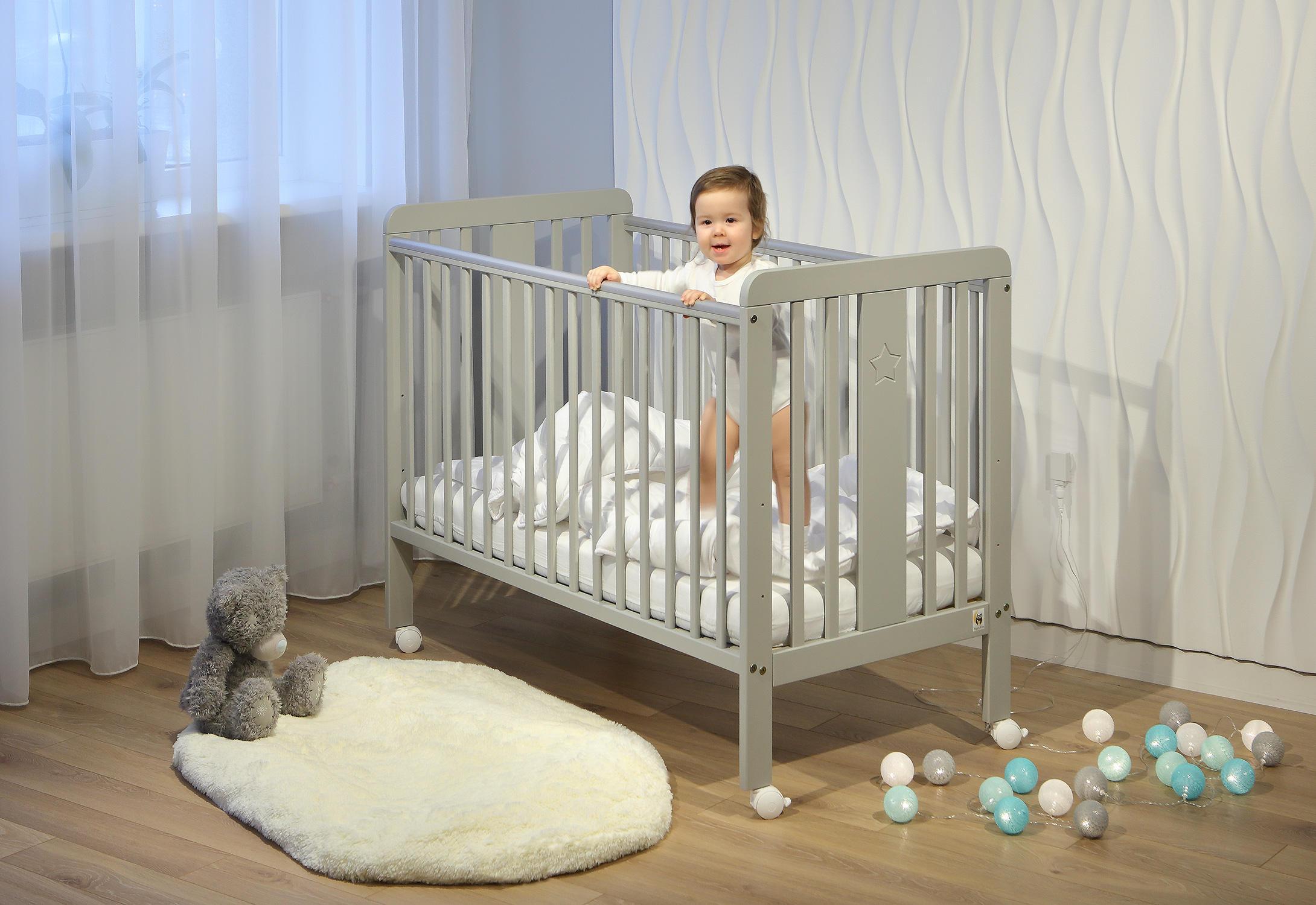 YappyStar Baby Cot 120x60cm White