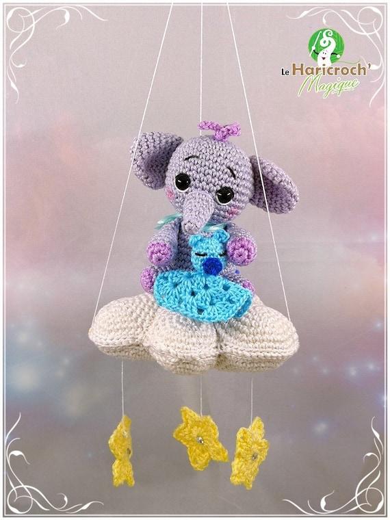 Patron gratuit Amigurumi éléphant au crochet   Les Tricots et ...   760x570