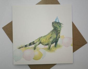 Iguana ,birthday card