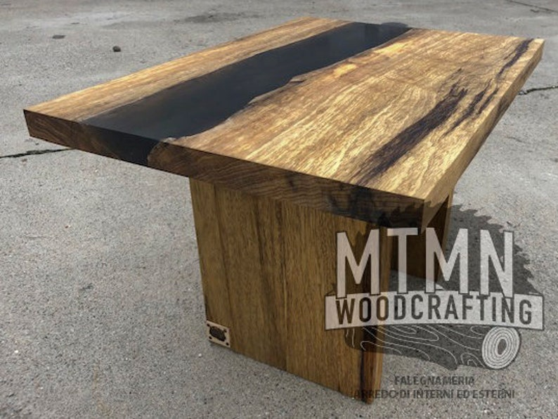 Wooden Coffee Table And Epoxy Resin Living Room Table Etsy