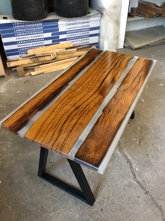 Handmade wood and resin coffee table epoxy Wood table