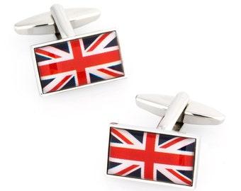 Wooden Union Jack Cufflinks Winston Churchill Cufflinks Gift For Him Union Jack Cufflinks Wooden British Cufflinks UK Cufflinks