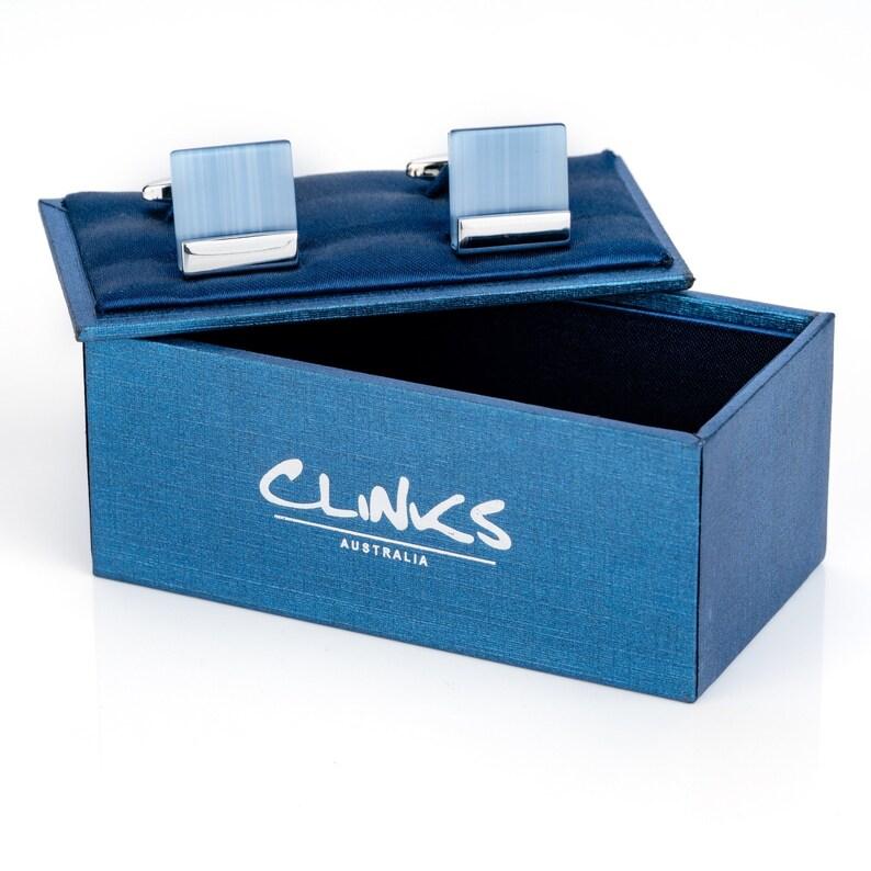 Blue Ice Cateye Cufflinks