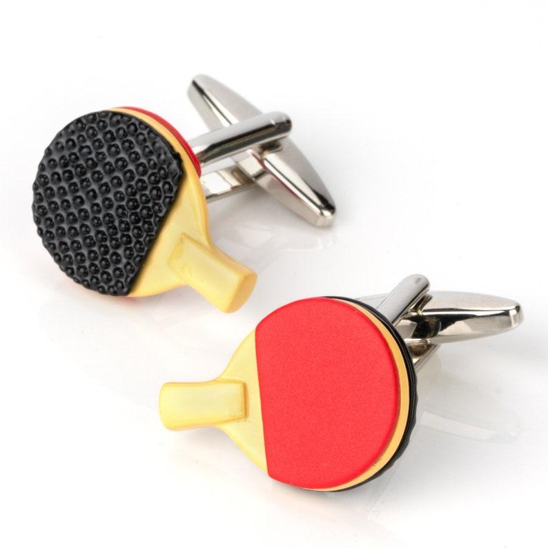 Ping Pong Table Tennis Cufflinks