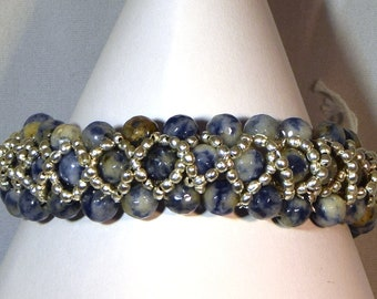 Sodalite Bangle style Bracelet