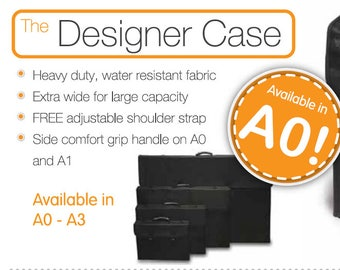 Mapac 'Designer Case' - Sizes From A3 to AO - Excellent Quality, Durable and Stylish Artist/Photographer/Designer Portfolio Case