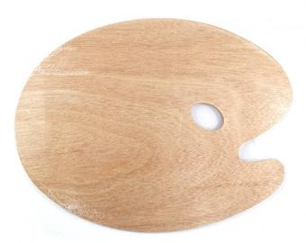 Traditional Wooden Paint Palette - 20 x 30cm Size