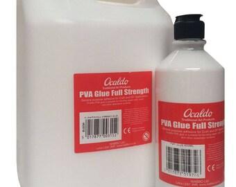Ocaldo Full Strength PVA Glue 5 Litres, 600ml or 150ml bottles