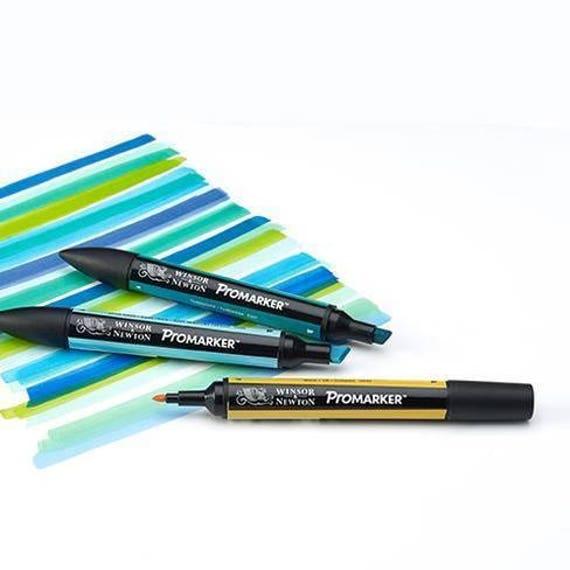 Winsor /& Newton Promarker Twin Tip Permanent Colour Marker Pens 12+1 Set #2