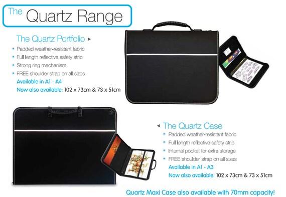 A4 Mapac Quartz Portfolio with Rings