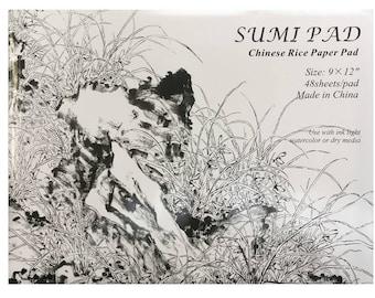 "Sumi Rice-Paper Pad - 9"" x 12"" x 48 sheets"