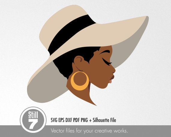 African American Svg Black Woman With Hat Svg Svg Cutting Etsy