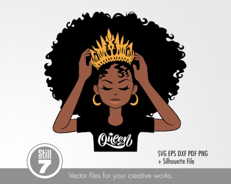 Download 3 African American Queen & Princess svg cutting files eps ...