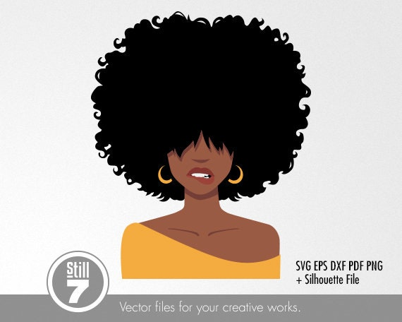 Black Woman Svg Afro Woman Biting Lips Svg Cutting File Etsy
