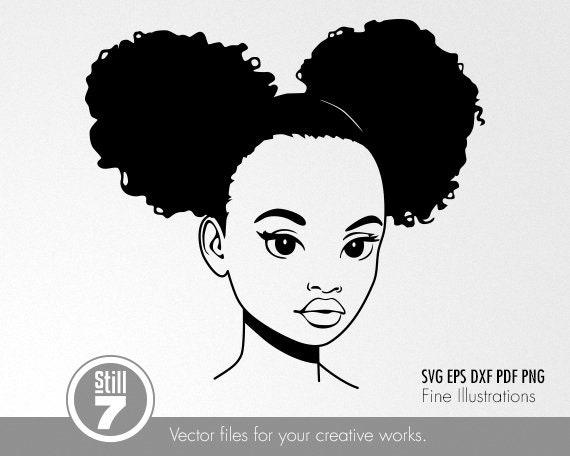 Cute Black Girl Svg Model 5 Cute Black Girl Svg Eps Dxf Etsy