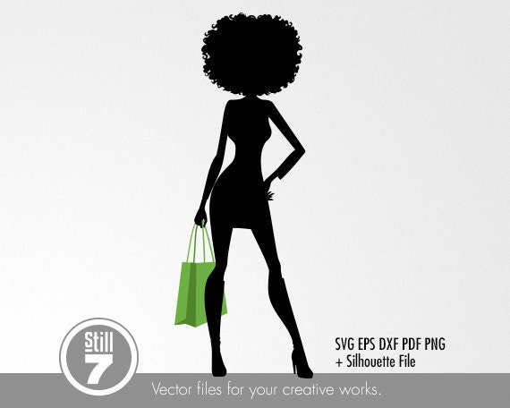 Afro Woman Svg Shopping Girl 4 Svg Black Girl Magic Svg Etsy