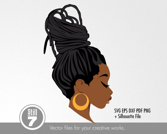 Black Woman Svg Dreadlocks 5 African American Svg Svg Etsy