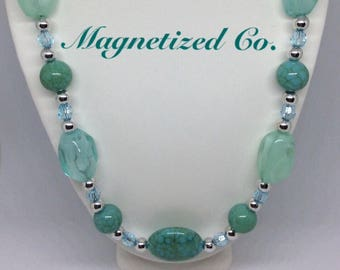 Seafoam Green Necklace