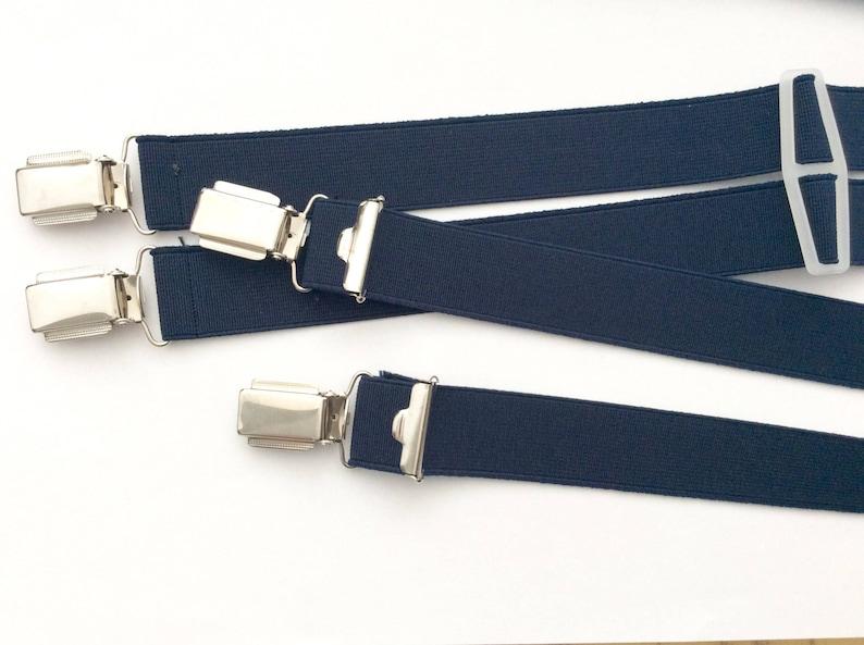 plain colour NEW own production wide clip Elastic suspender 25 mm wide